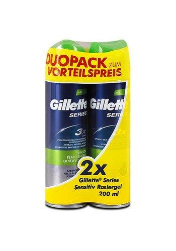 Gillette Gillette Series Rasiergel 2x200ml empfindl. Haut