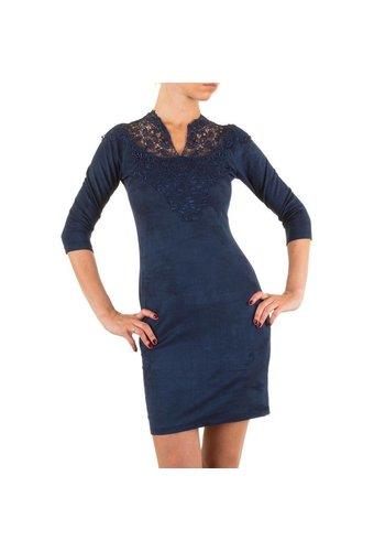 Neckermann Damen Kleid mit Spitze - DK.blau