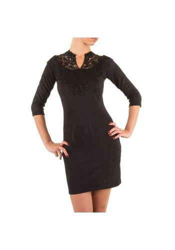 Neckermann Damen Kleid mit Spitze - schwarz