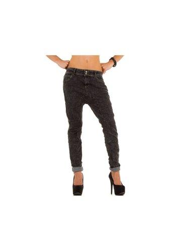 SIMPLY CHIC Jeans Dames Low - Gris DK