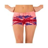 Damen Shorts mit englischer Flagge - pink