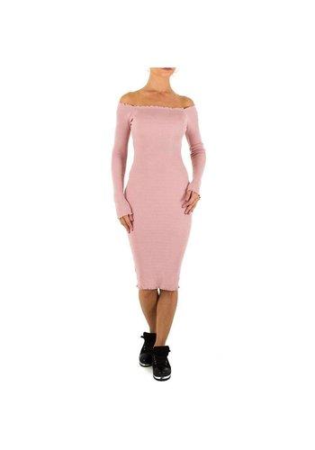 Neckermann Lange Damen Kleid Gr. Einheitsgröße - Rose