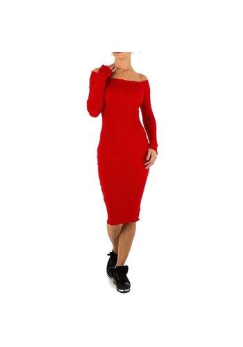 Neckermann Lange Damen Kleid Gr. eine Größe - rot