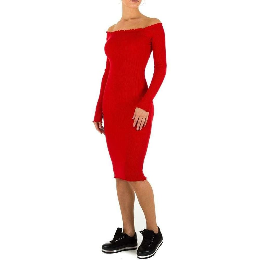 Lange Damen Kleid Gr. eine Größe - rot