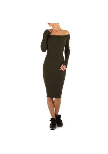 EMMASH Lange Damen Kleid Gr. eine Größe - khaki