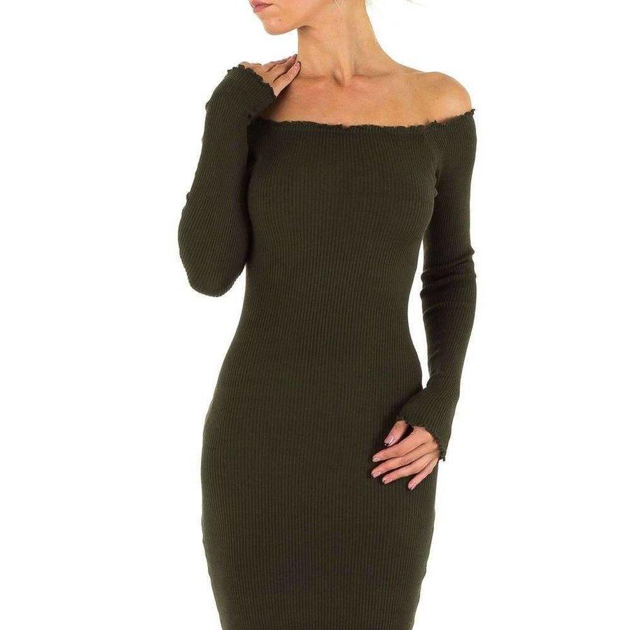 Lange Damen Kleid Gr. eine Größe - khaki