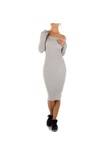 Neckermann Lange Damen Kleid Gr. eine Größe - grau