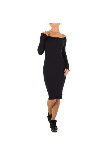 EMMASH Lange Damen Kleid Gr. eine Größe - schwarz