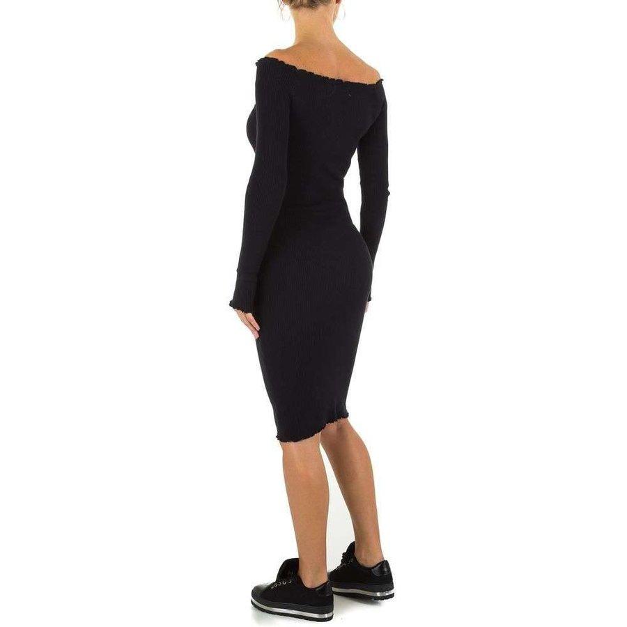 Lange Damen Kleid Gr. eine Größe - schwarz