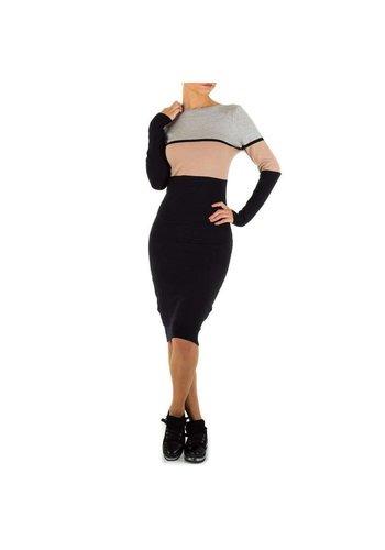 EMMASH Damen Kleid Gr. eine Größe - grau