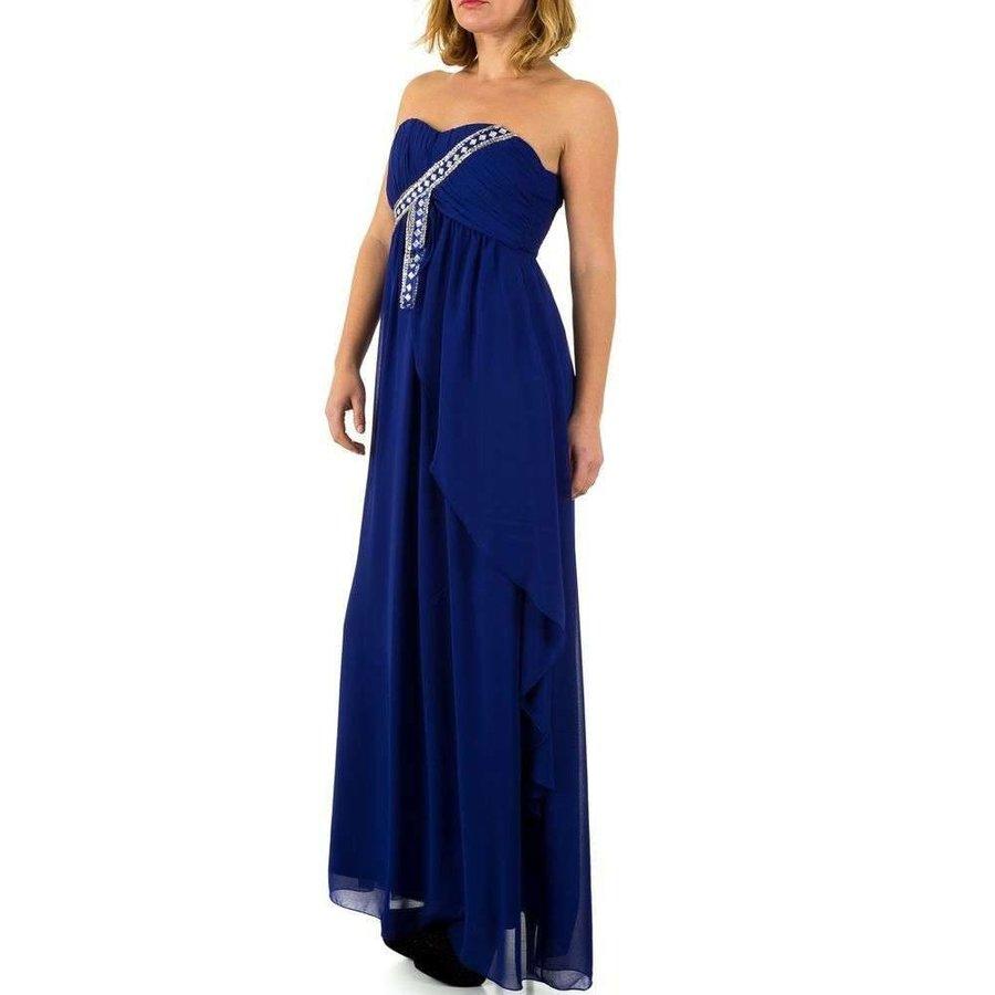 Langer Abendkleid - blau