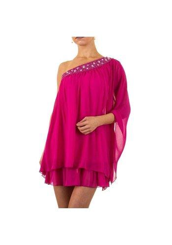 USCO Robe chic pour femmes - fuchsia