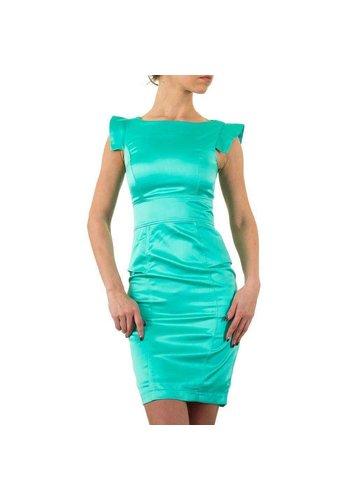 USCO Spannende strakke dames jurk - groen
