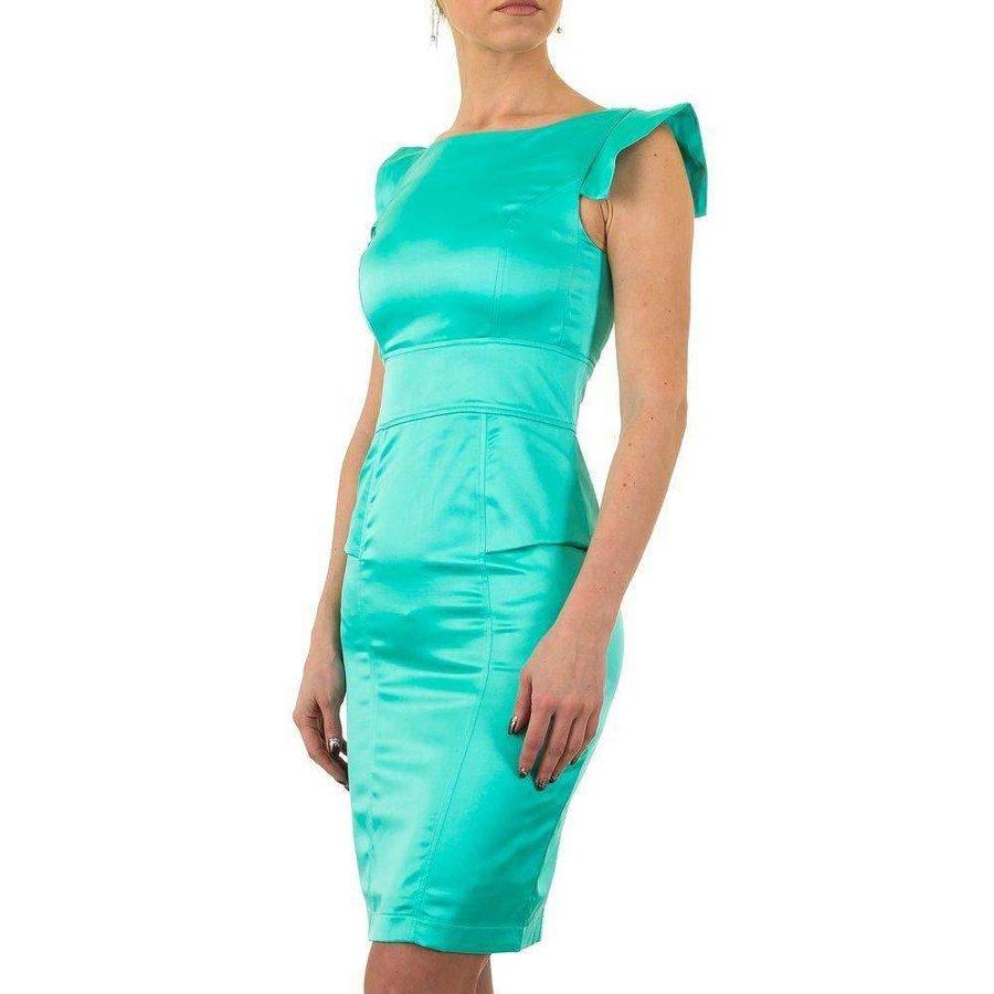 Spannend enge Damen Kleid - grün