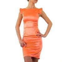 Enges Damenkleid - Koralle