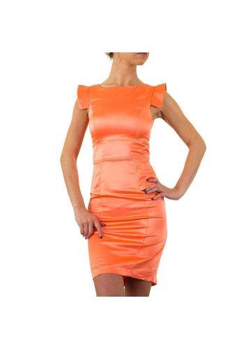USCO Enges Damenkleid - Koralle