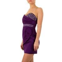 Trägerloses Abendkleid - Lila