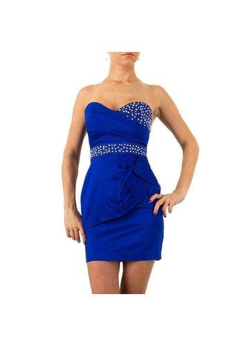 USCO Strapless Avond Jurk - blauw