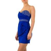 Trägerloses Abendkleid - blau