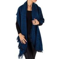 Damen Schal Extra groß Gr. eine Größe - Saphirblau