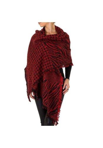 HOLALA Damen Schal extra groß Gr. eine Größe - rot