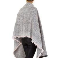 Damen Schal extra groß Gr. eine Größe - Rosa