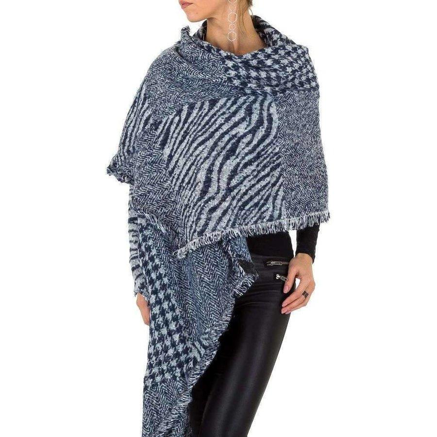 Damen Schal extra groß Gr. eine Größe - Marine