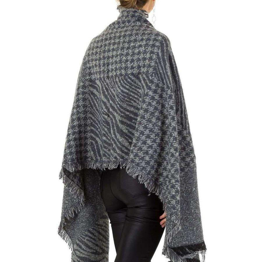 Damen Schal extra groß Gr. eine Größe - grau