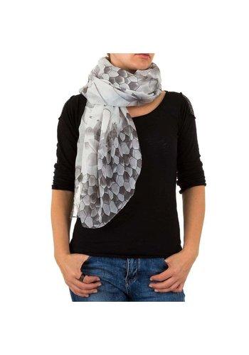 Best Fashion Dames Sjaal Gr. een maat - zwart/wit