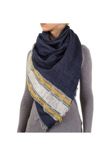 Best Fashion Dames Sjaal Gr. één maat - DK.blauw