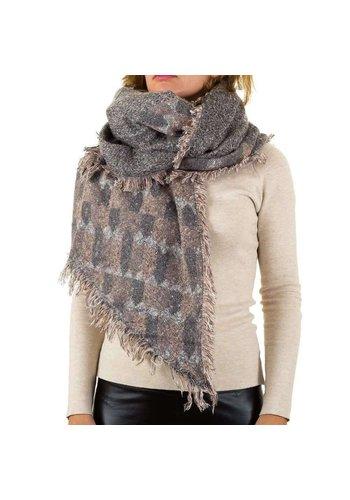 Best Fashion Dames sjaal van Best Fashion Gr. een maat - grijs