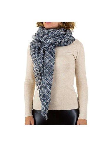 Best Fashion Dames sjaal van Best Fashion Gr. een maat - blauw