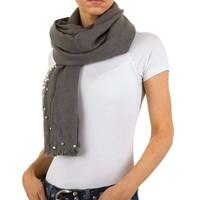Damen Schal mit Perlen Gr. eine Größe - grau