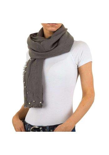 Best Fashion Dames Sjaal met parels Gr. een maat - grijs