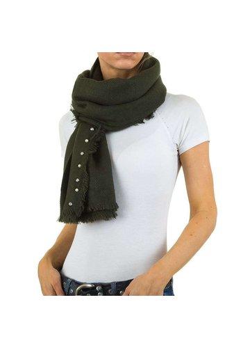 Best Fashion Dames Sjaal met parels Gr. één maat - groen