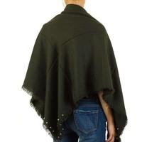 Damen Schal mit Perlen Gr. eine Größe - grün
