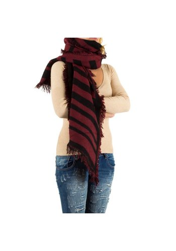 Best Fashion Dames Sjaal Gr. één maat - rood/zwart