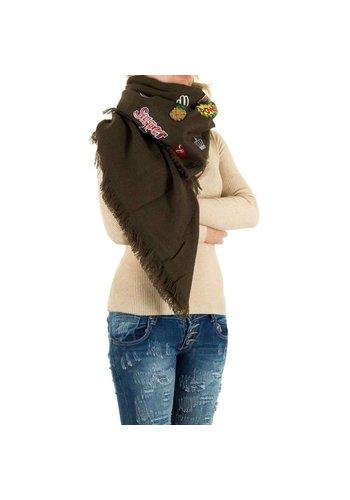 Best Fashion Dames Sjaal Gr. een maat - kaki