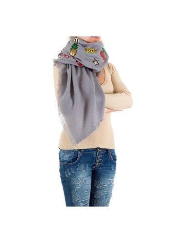 Best Fashion Dames Sjaal Gr. een maat - grijs