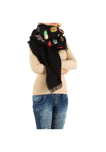 Best Fashion Dames Sjaal Gr. één maat - zwart