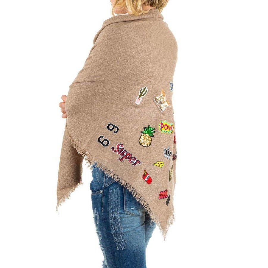 Damen Schal von Best Fashion Gr. one size - beige