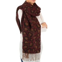 Damen Schal von Best Fashion Gr. one size - wine