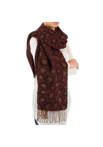 Best Fashion Dames Sjaal Gr. één maat - wijnrood