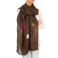 Damen Schal von Best Fashion Gr. one size - coffee