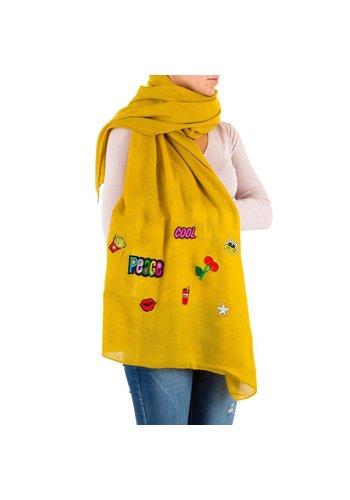Neckermann Damen Schal von Best Fashion Gr. one size - yellow