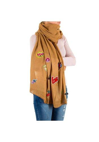 Best Fashion Dames Sjaal Gr. een maat - camel