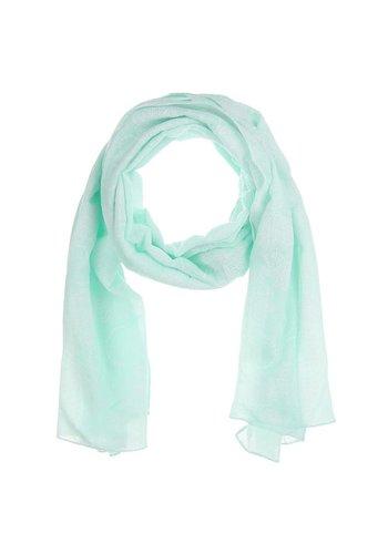 Best Fashion Dames Sjaal  Gr. één maat - L.groen