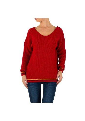 Milas Damen Pullover Gr. eine Größe - rot
