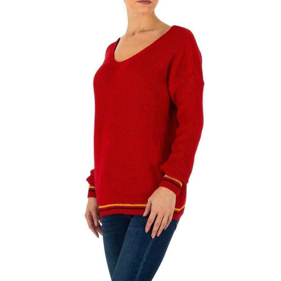Damen Pullover Gr. eine Größe - rot