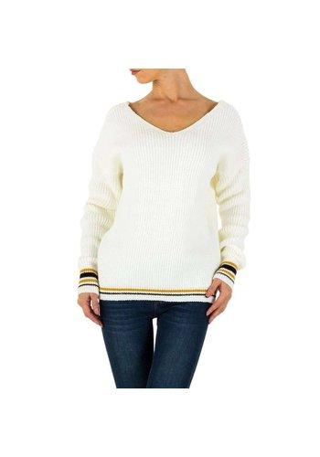 Milas Damen Pullover Gr. eine Größe - weiß
